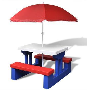 vidaXL Picknicktisch mit Schirm (41455)