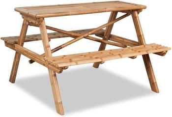 vidaXL Picknicktisch Bambus 120x120x78cm (42505)