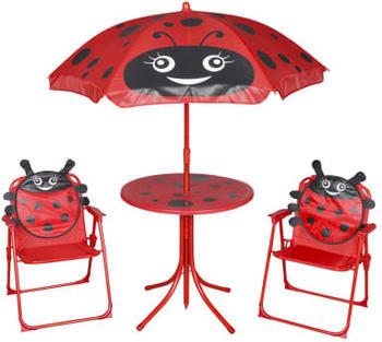 vidaXL Garden bistro set for children with umbrella red (41842)