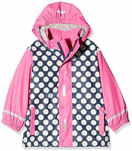 Playshoes Regen-Mantel Margeriten (408547) navy/pink