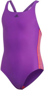 Adidas Athly V 3-Stripes Swimsuit (DQ3321) active purple/shock red