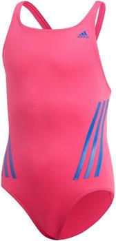 Adidas Pro V 3-Streifen Badeanzug real magenta/royal blue