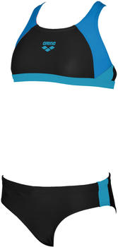 Arena Ren Two Pieces (000994) black/pix blue/turquoise