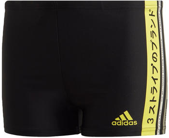 Adidas Graphic Boxer-Badehose black/shock yellow/legacy green