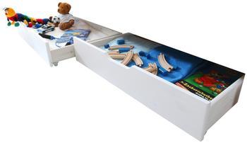 Ticaa Schubkasten-Set für Etagenbetten Kiefer Weiß