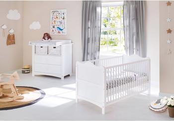 Steens Etagenbett Weiß : Steens for kids hochbett mit gästebett und gerader leiter mdf weiß
