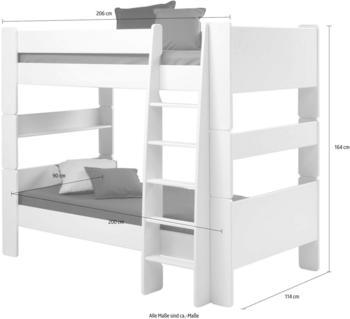 Steens Etagenbett Kimba mit Leiter weiß