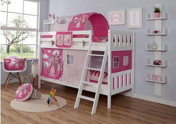 Ticaa Erni Vertikal Buche Weiß Horse-Pink (Ausführung 3) 90 x 200 cm (939092)