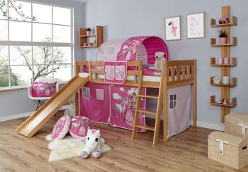 Ticaa Rutschbett Ekki Vertikal Buche Natur Horse-Pink (Ausführung 3) 90 x 200 cm (938378)