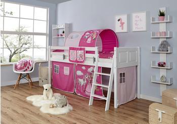 Ticaa Eric Country Buche weiß Horse-Pink (Ausführung 3) 90 x 200 cm (937975)