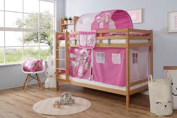 Ticaa Rene Buche Natur Horse-Pink (Ausführung 3) 90 x 200 cm (937739)