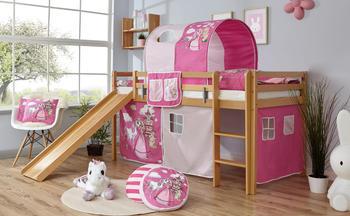 Ticaa Rutschbett Rene Buche Natur Horse-Pink (Ausführung 3) 90 x 200 cm (937579)