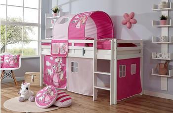 Ticaa Rene Buche weiß Horse-Pink (Ausführung 3) 90 x 200 cm (937494)