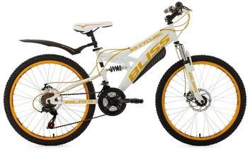 KS-CYCLING Bliss 24 Zoll RH 38 cm weiß/gelb