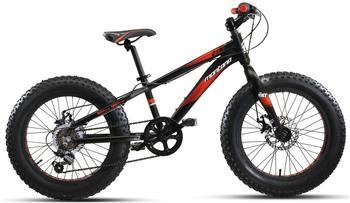 Montana Bike Fat Tyre Fattie 20 Zoll RH 28 cm schwarz/rot