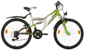 KS-CYCLING Eden 24 Zoll RH 38 cm weiß/grün