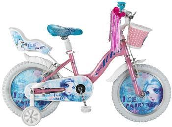 Hoopfietsen Ice Fairy 16 Zoll rosa