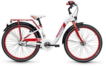 S'cool scool chiX 24 3-S alloy White/Red 2018 Kinderfahrrad