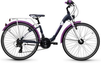 S'cool scool chiX 24 21-S alloy Darkgrey/Violett Matt 2018 Kids Bikes