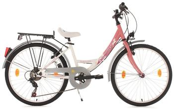 KS-CYCLING Fabulous 24 Zoll RH 36 cm weiß/rosa