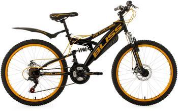 KS-CYCLING Bliss 24 Zoll RH 38 cm schwarz/gelb