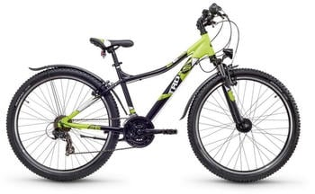 "S´cool scool troX urban 26 21-S Black/Citruslemon Matt 26"" | 54cm 2018 Kinder- & Jugendfahrräder"