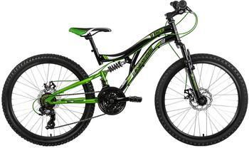 KS-CYCLING Nice 24 Zoll RH 43 cm schwarz/grün