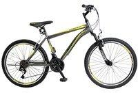 Hoopfietsen 24 Zoll Jungen Mountainbike 21 Gang Hoopfietsen... grau-gelb