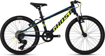 Ghost Kato 2.0 AL 20 Zoll Mountainbike Kinderfahrrad Jugendfahrrad Hardtail MTB Fahrrad Tour... night blueneon yellowriot blue, 27 cm