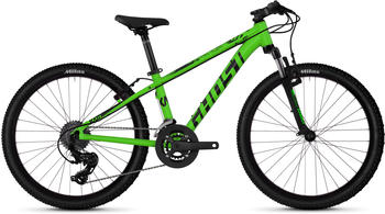 Ghost Kato 2.4 AL 24 Zoll Mountainbike Jugendfahrrad Hardtail MTB Fahrrad Tour... riot green/jet black,