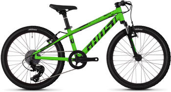 "Ghost Kato R 1.0 AL 20 Zoll Mountainbike Hardtail Jugendfahrrad MTB... riot green/jet black, 20"" 2019 Jugend-jet cm"
