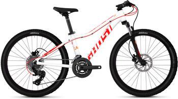 Ghost Lanao D4.4 AL W 16 Gang Shimano Tourney TX RD-TX800 8-S Schaltwerk weiß 24 Zoll Mountainbike Hardtail Jugendfahrrad MTB... star whiteneon redjuice orange, 32 cm