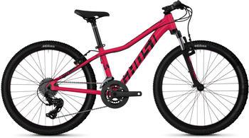 Ghost Lanao 2.4 AL W 16 Gang Shimano Tourney TX RD-TX800 8-S Schaltwerk rosa 24 Zoll Mountainbike Hardtail Jugendfahrrad MTB... rubi Pink/Jet black,