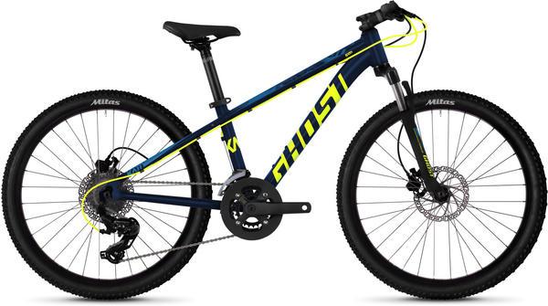 Ghost Mountainbike Kato D4.4 AL U«, 16 Gang Shimano Tourney TX RD-TX800 8-S Schaltwerk blau 24 Zoll (60,96 cm)