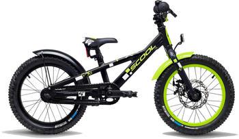 """S´cool scool faXe 16 3-S alloy black/lemon matt 16"""" 2019 Kids Bikes"""