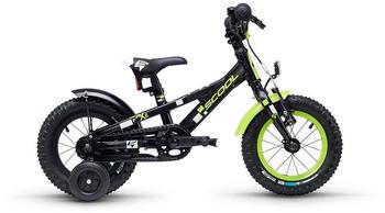 """S´cool scool faXe 12 alloy black/lemon matt 12"""" 2019 Kids Bikes"""
