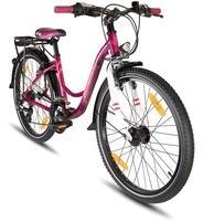 PROMETHEUS BICYCLES - Hawk, Kinderfahrrad 24 Zoll Jungen Mädchen Alu Fahrrad Lila - lila