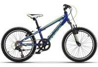 Cross Kinderfahrrad, 6 Gang Shimano Tourney RD-TZ50SL-RS35-6 Schaltwerk, Kettenschaltung blau 20 Zoll (50,80 cm)