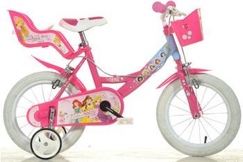 DINO BIKES Princess 14 Zoll RH 25 cm pink/hellblau