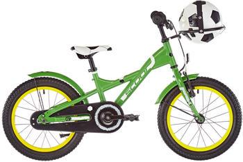 "S´cool scool XXlite soccer 16 steel green matt 16"" 2019 Kids Bikes"