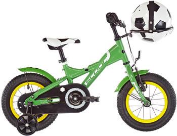"S´cool scool XXlite soccer 12 green matt 12"" 2019 Kids Bikes"