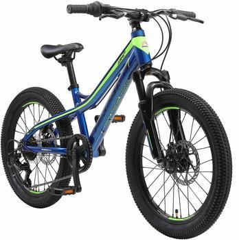 Bikestar Kinderfahrrad Alu Hardtail Mountainbike 20, blau/grün