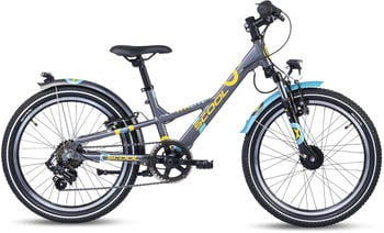 "S´cool scool XXlite alloy 20 7-S Kinder darkgrey/mint 20"" 2020 Kids Bikes"