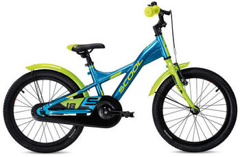 "S´cool scool XXlite alloy 18 Kinder blue/lemon metalic 18"" 2020 Kids Bikes"