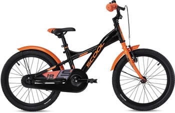 "S´cool scool XXlite alloy 18 Kinder black/orange 18"" 2020 Kids Bikes"