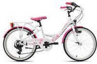 KS-CYCLING KS Cycling Kinderfahrrad Dandelion, 7 Gang Shimano Tourney Schaltwerk, Kettenschaltung weiß Kinder Kinderfahrräder Fahrräder Zubehör Fahrrad