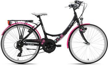 KS-CYCLING Dandelion 24 Zoll RH 41 cm schwarz/pink