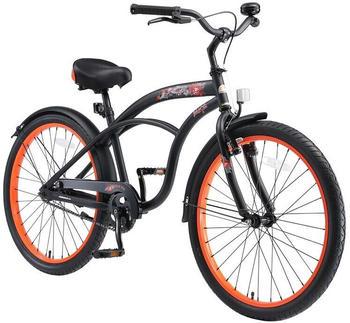 Bikestar 24 Zoll Cruiser Schwarz