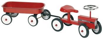 Goki Traktor mit Anhänger Metall