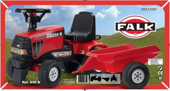 Falk Traktor Case IH CVX 120 mit Anhänger